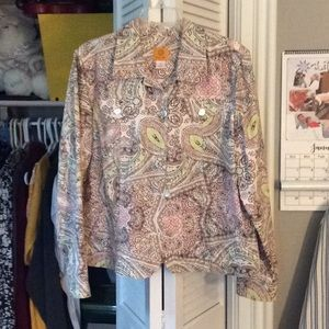 Lovely multi-color print jacket